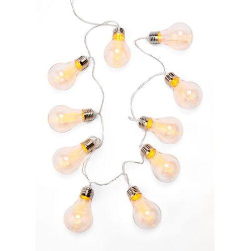 Bonprix Łańcuch z lampkami w kształcie żarówek przezroczysty