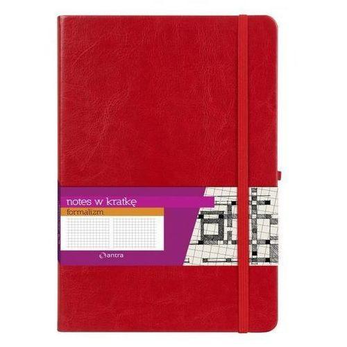 Notes a4 w kratkę formalizm czerwony marki Antra