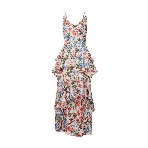 Missguided Letnia sukienka 'Floral Ruffled Midi Dress' różowy