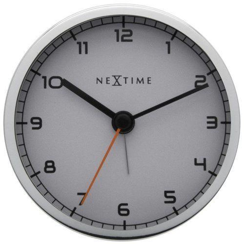 NeXtime - Zegar stojący Company Alarm - biały, kolor biały