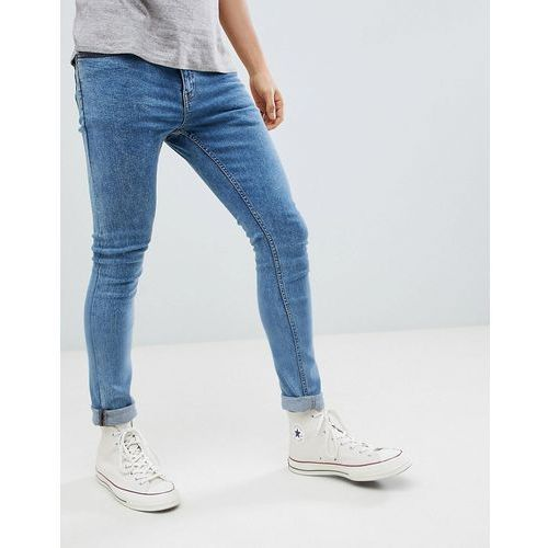 skinny jeans in light wash - blue, New look