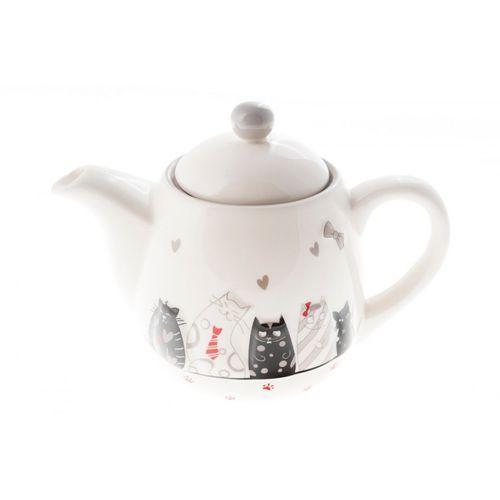 Home Dzbanek ceramiczny do herbaty kawy koty 1 litr