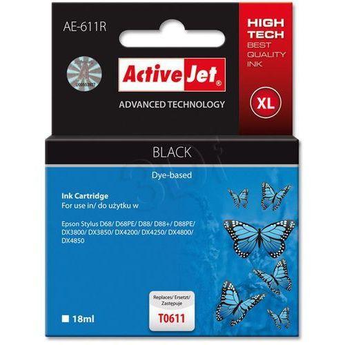 Activejet tusz AE-611R / T0611 (black) Darmowy odbiór w 20 miastach!, kolor Black