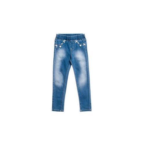 Spodnie jeansowe dziewczęce niebieskie denley pps058 marki Happy house
