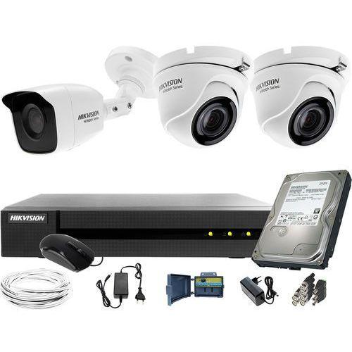 1x hwt-b120-m 2x hwt-t120-m zestaw monitoringu hwd-6104mh-g2 dysk twardy 1tb akcesoria marki Hikvision hiwatch