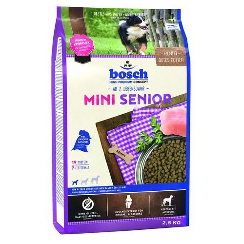 Bosch petfood Bosch mini senior sucha karma dla starszych małych psów 2,5 kg