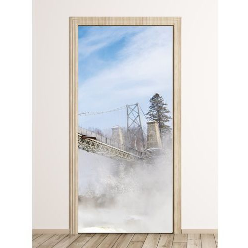 Fototapeta na drzwi most ponad wodospadem FP 5901