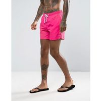 New Look Swim Shorts With Waistband In Bright Pink - Pink