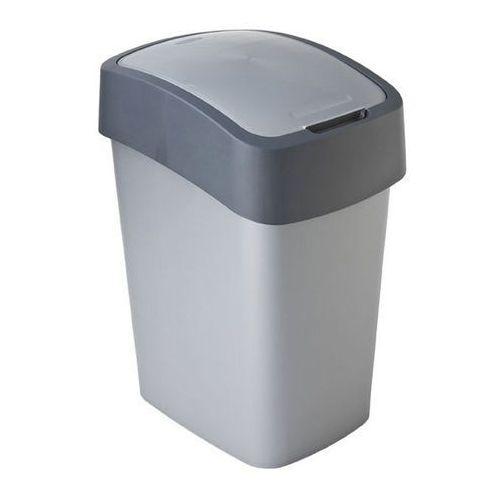 Curver  kosz na śmieci flip bin 25l - grafit/srebrny (3253922171038)