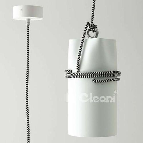LAMPA wisząca URAN 1296Z1/J1/kolor Cleoni metalowa OPRAWA zwis tuba kabel przewód, kolor Biały
