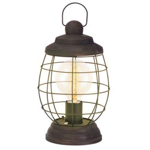 Eglo Lampa stojąca vintage bampton - 17,5 cm patyna brązowa, 49288