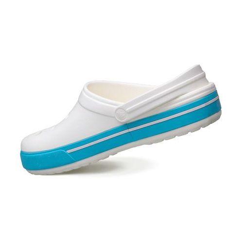 Klapki Crocs Crocband™ Clog White / Blue 12836-11M - Biały (0887350758535)