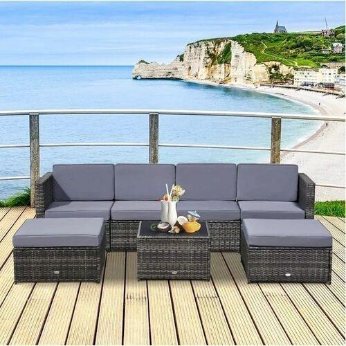 Meble ogrodowe lounge set corner marki Aosom