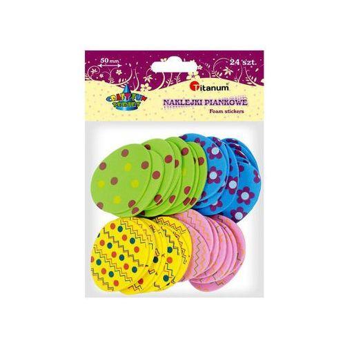 Titanum Naklejka piankowa pisanki jajka 24szt 4,3x5cm - pisanki, 4 wzory (5907437702703)