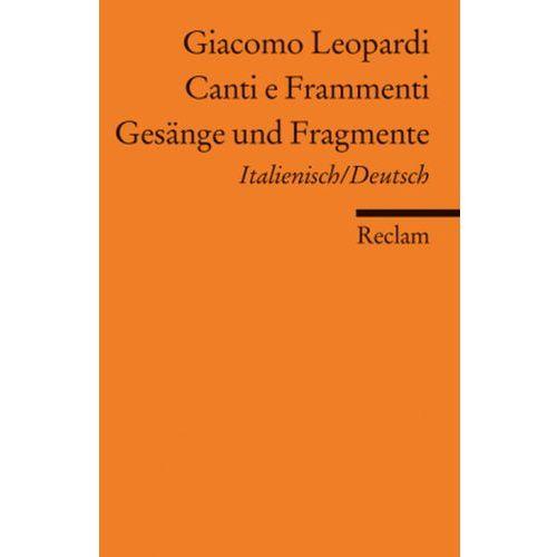 Gesänge und Fragmente. Canti e Frammenti (9783150086544)