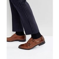 Hugo dressapp burnished calf leather monk shoes in tan - tan marki Boss