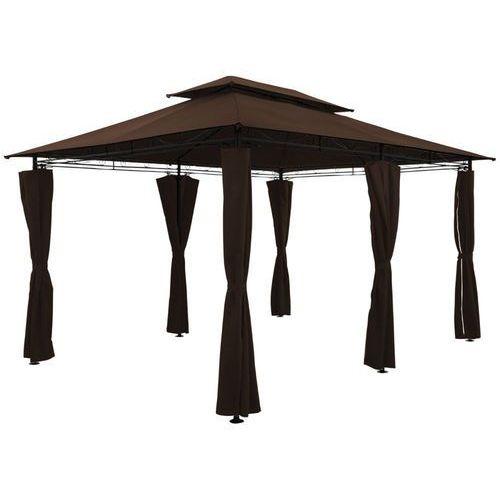 Wideshop Namiot pawilon altanka ogrodowy 3x4 brązowy ściany