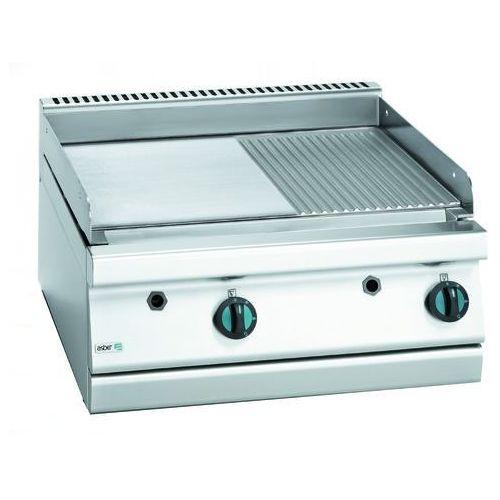 Asber Płyta grillowa gazowa gładka/ryflowana, gaz ziemny, 700x775x290 mm | , block cook 700