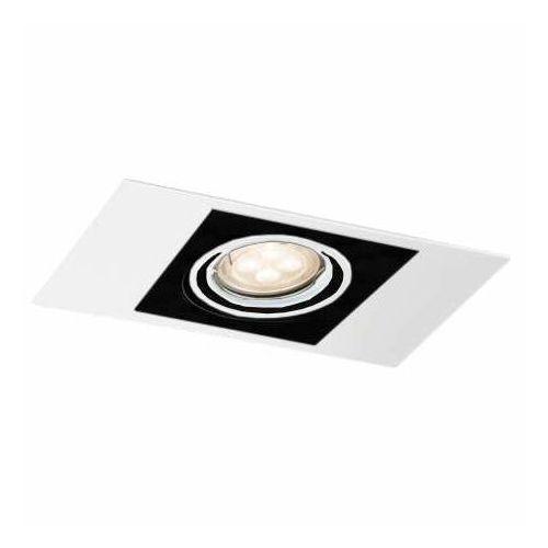 Wpuszczana lampa sufitowa ebino h 3346/gu10/bi podtynkowa oprawa prostokątna oczko regulowane białe marki Shilo