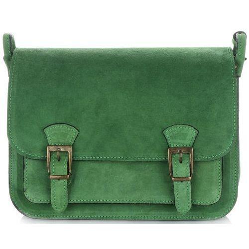 0390cb7ba84a5 Torebki skórzane listonoszki firmy butelkowa zieleń (kolory) marki Genuine  leather