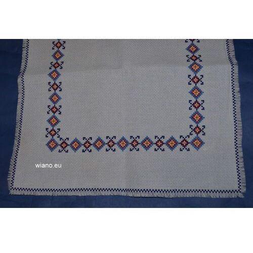 Bieżnik haftowany, haft krzczonowski dł.80 cm, szer. 36 (bw) marki Twórczyni ludowa