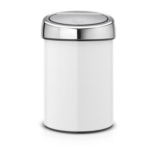 Kosz na śmieci Touch Bin 3l biały z pokrywą stalową, 364488