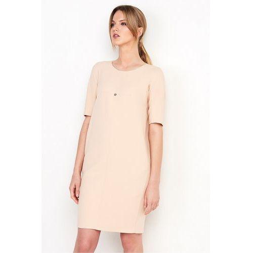 Sukienka o fasonie tuby w pudrowo-różowym kolorze - Patrizia Aryton