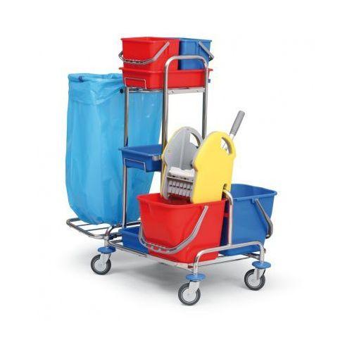 Profesjonalny dwuwiadrowy wózek do sprzątania marki B2b partner