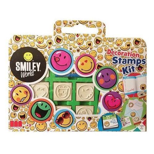 Pieczątki smiley world 7 sztuk w walizce - multiprint marki Multiprint