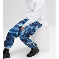 Reclaimed Vintage Revived Camo Cargo Trousers In Blue - Blue