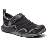 Crocs Sandały - swiftwater mesh deck sandal m 205289 black