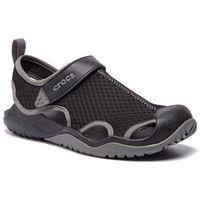 Crocs Sandały - swiftwater mesh deck sandal m 205289 black