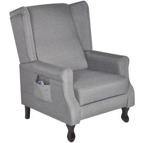 rozkładany fotel z masażem, na pilota, szary marki Vidaxl