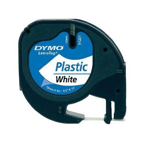 Dymo  12mm letratag plastic tape taśmy do etykietowania (5411313912211)