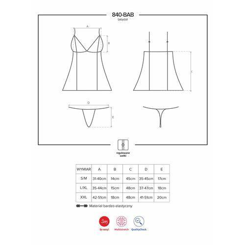 840-bab-1 babydoll koszulka marki Obsessive