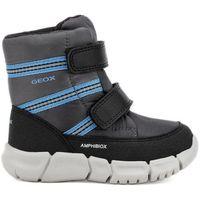 buty zimowe chłopięce flexyper 24 szaro-niebieskie marki Geox