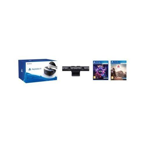 Gogle wirtualnej rzeczywistości sony playstation vr + playstation camera v2 + vr worlds (voucher) + vr farpoint marki Sony interactive entertainment