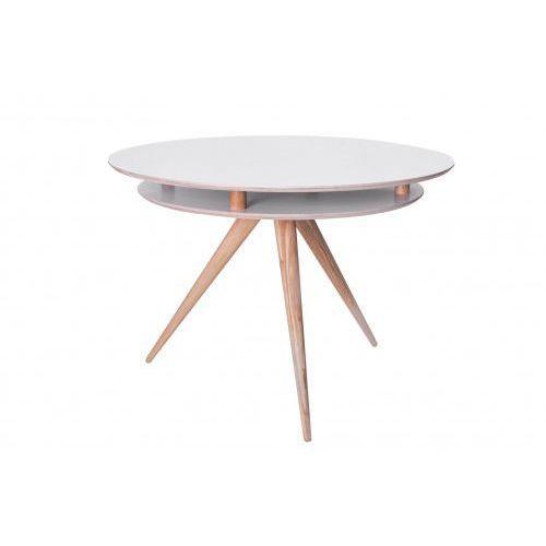 Ragaba Stół drewniany okrągły triad - kolor szary
