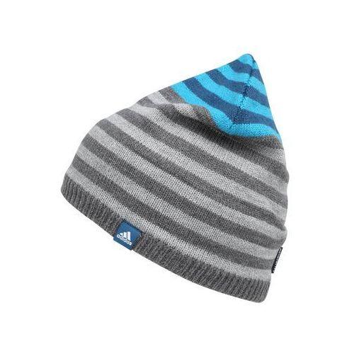 Adidas performance stripy czapka dark grey heather/blue night/white