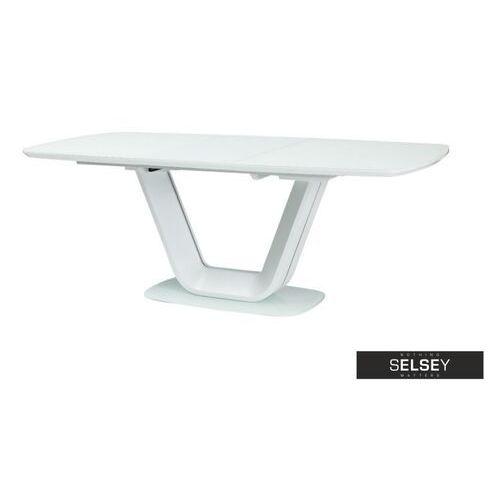 stół rozkładany lubeka 160-220x90 cm biały marki Selsey