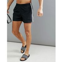adidas Swim Shorts With Stripes In Black CV5137 - Black, szorty