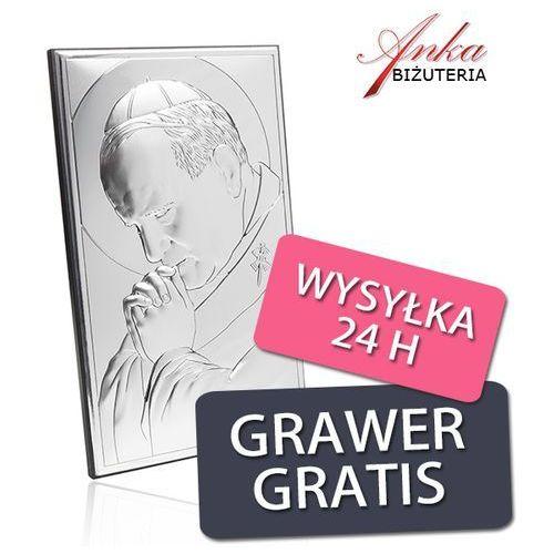 Prezent Komunijny Obraz Papież Jan Paweł II - Dewocjonalia