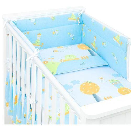 MAMO-TATO 3-el dwustronna pościel dla niemowląt Ślimaki w błękicie do łóżeczka 60x120cm