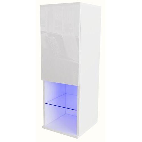 Witryna Carla LED biały połysk