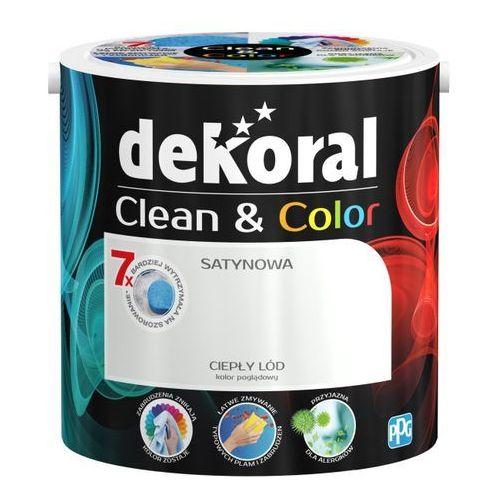Satynowa farba lateksowa Dekoral Clean&Color ciepły lód 2 5 l, 00398972