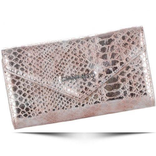 Eleganckie portfele damskie firenze wzór węża złoty (kolory) marki Diana&co