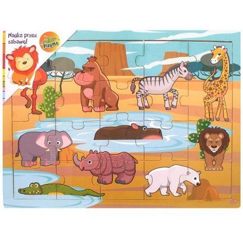 puzzle drewnian ezwierzęta afryki - brimarex od 24,99zł darmowa dostawa kiosk ruchu marki Brimarex