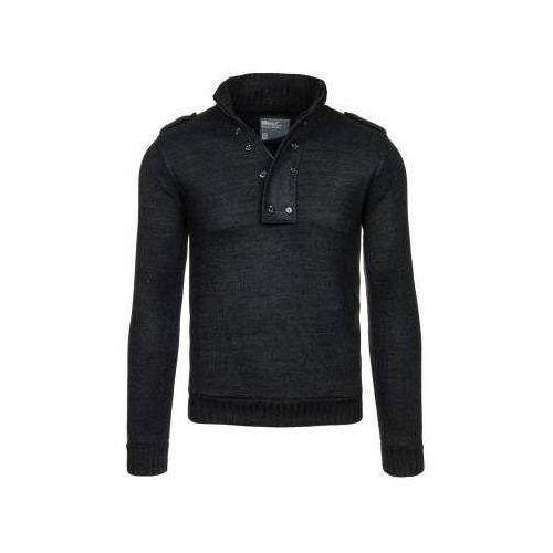 Antracytowy sweter męski Bolf 1132, kolor szary