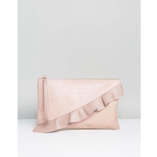 Silvian heach ruffle front clutch bag - pink