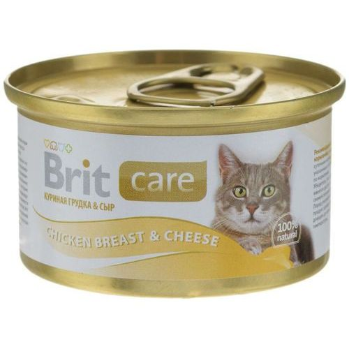 BRIT Care Cat Chicken&Cheese Breast 80g puszka, BR-443018